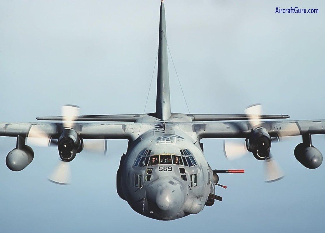 AC-130 - Head on shot of a massive AC-130.