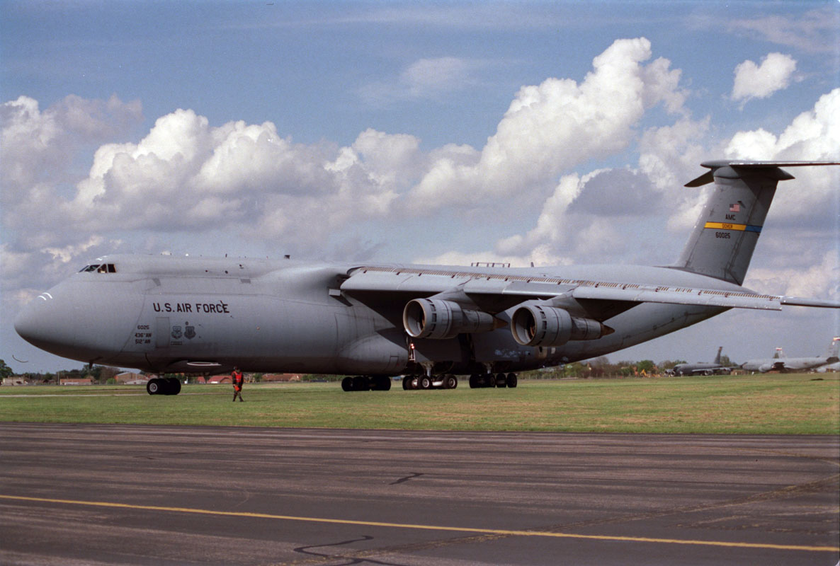 C-5 Galaxy - C-5 Galaxy near a runway.