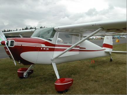 Cessna 140A - Cessna 140A with a single wing strut.