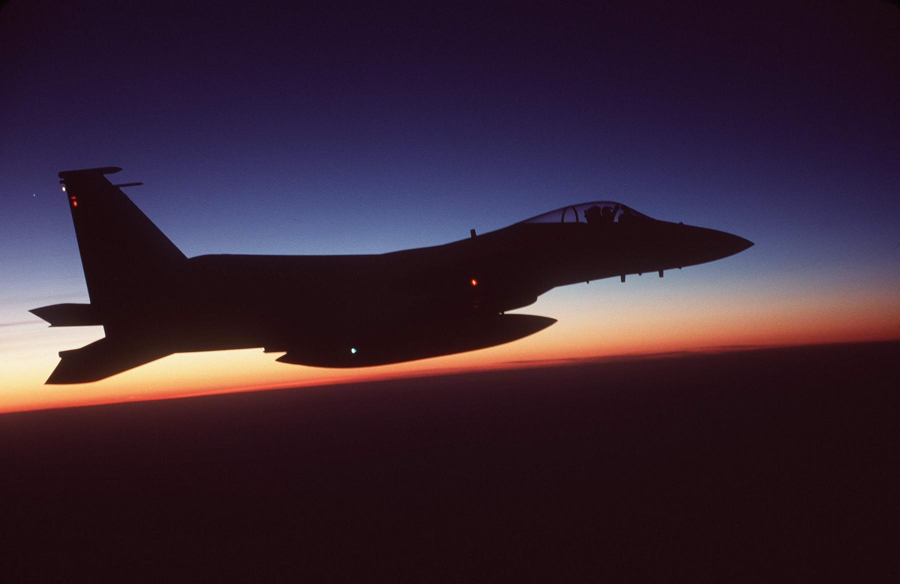F-15C Eagle - The silhouette of an F-15C.