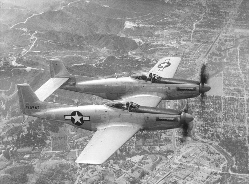 F-82 Twin Mustang - This is actually the P-82, the prototype of the F-82.
