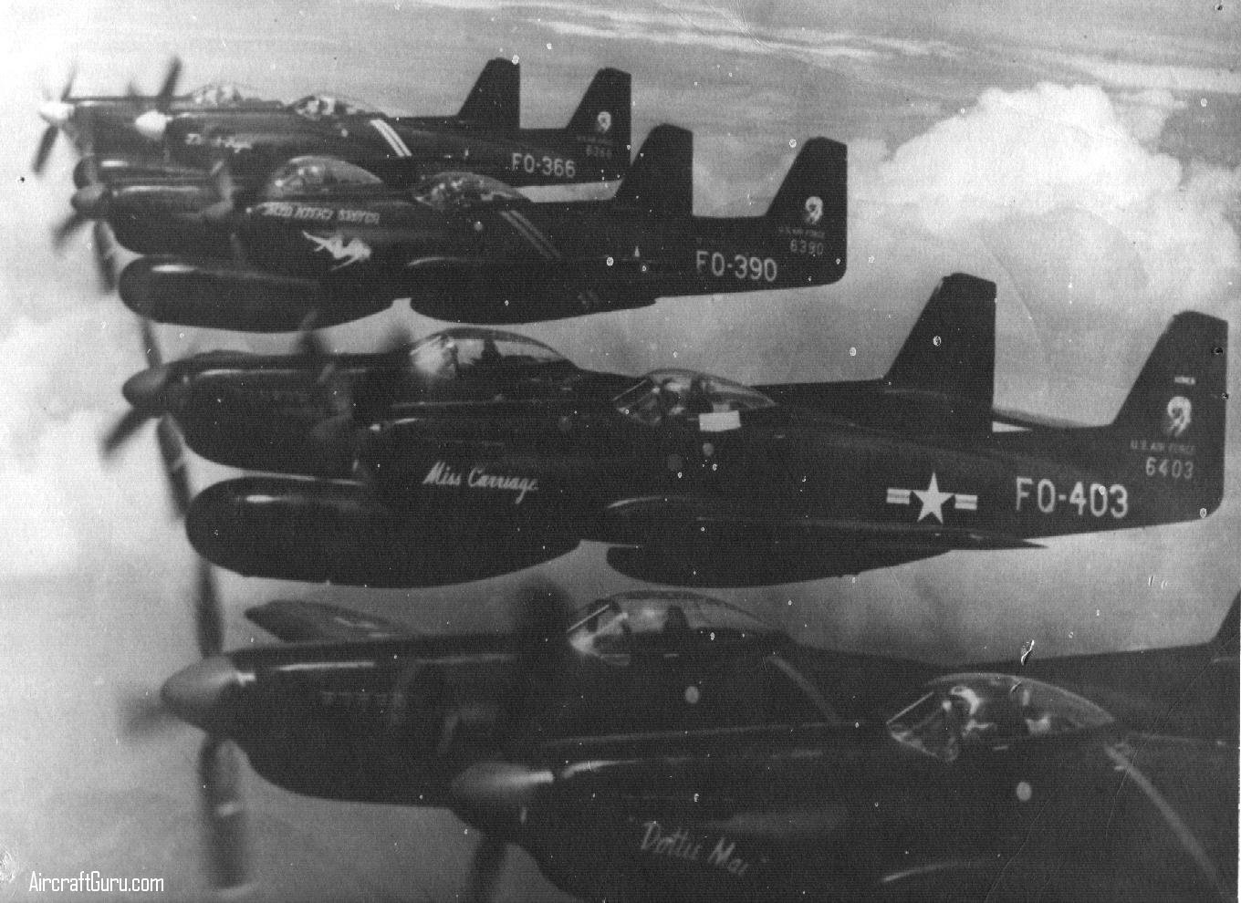 F-82 Twin Mustang - This photo was sent to us by Francis Piraino.  He wrote: