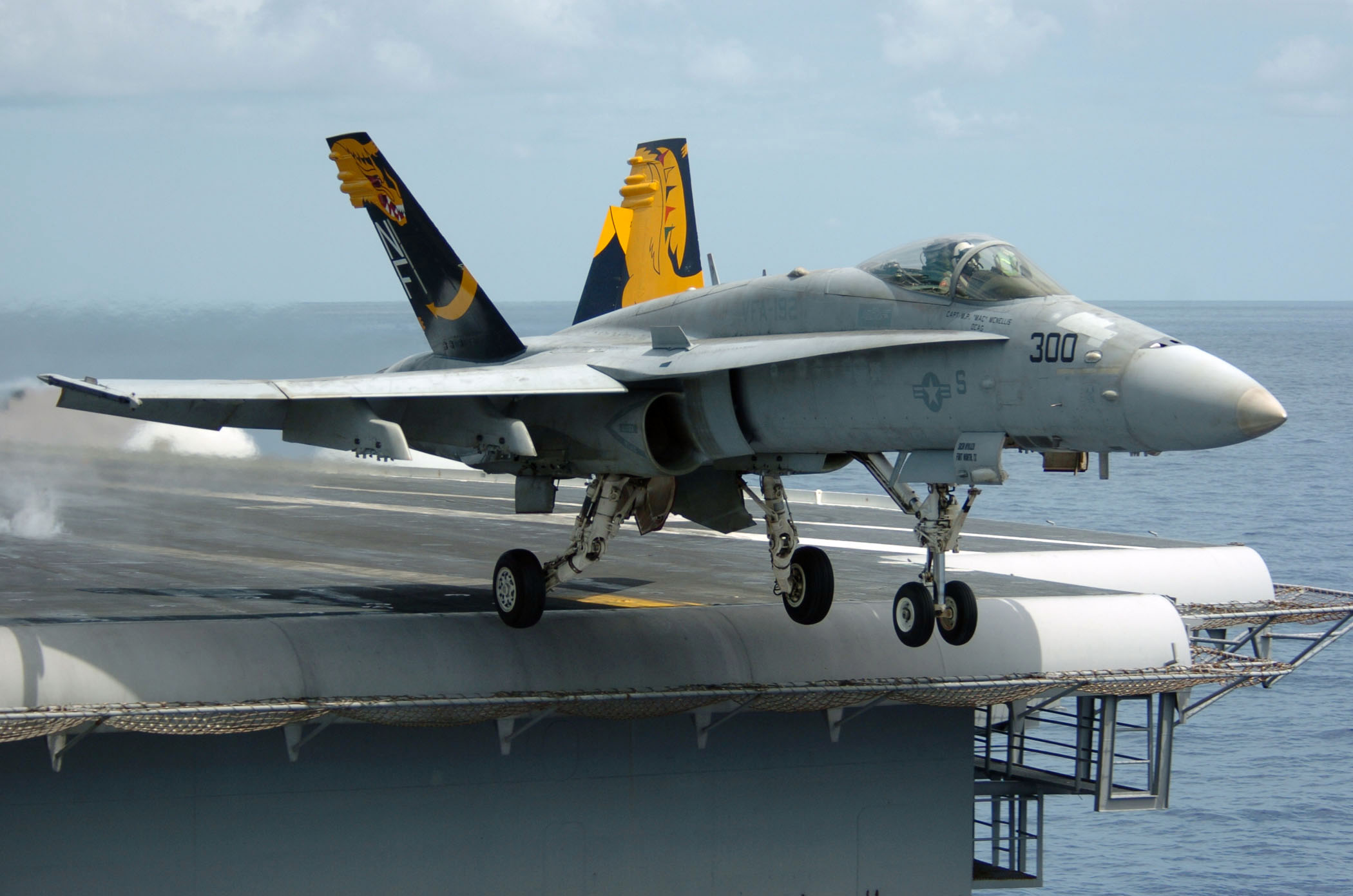 F/A-18 Hornet - F/A-18 Hornet taking off from the USS Kitty Hawk.
