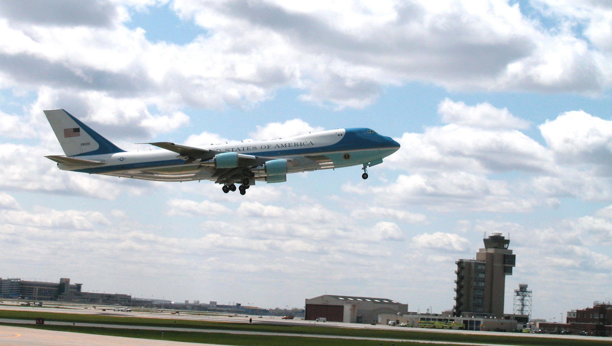 VC-25 Air Force One - VC-25 Air Force One shortly after takeoff.