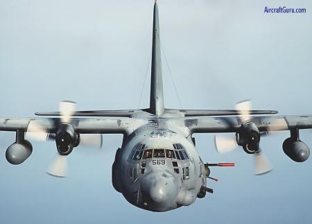 AC-130 - Head on shot of a massive AC-130.