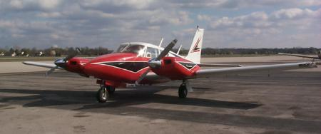 Piper PA-30 Twin Comanche - 1963-65 model Piper Twin Comanche modified with Arapaho wingtips and chrome spinners